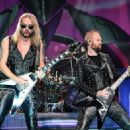 Richie Faulkner of Judas Priest performs on the final night of the band's Firepower World Tour at The Joint inside the Hard Rock Hotel & Casino on June 29, 2019 in Las Vegas, Nevada - 454 x 326