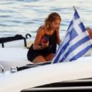 Rita Ora – In a bikini on a yacht in Corfu – Greece