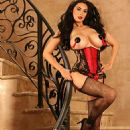 Tera Patrick - Red Corset Stairs