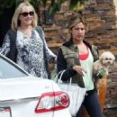 Ashley Tisdale: stops by her mom's house in Los Angeles