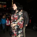 Katy Perry: showed up at Sardi's restaurant in the Broadway district of New York City