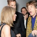Taylor Swift, Calvin Harris and Sir Mick Jagger attend the Universal Music Brits party hosted by Bacardi at The Soho House Pop-Up on February 25, 2015 in London, England. - 454 x 632