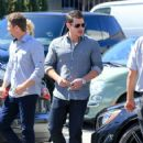 Nick Lachey is seen out enjoying lunch on March 31, 2016