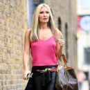 Caprice Bourret – Pictured outside a recording studio in London