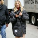 Kaley Cuoco – Walking to the set of 'The Flight Attendant' in New York