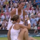 Roberta Vinci and Sara Errani Celebrating Wimbledon