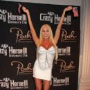 Mary Carey seen arriving to the Crazy Horse III in Las Vegas to host the third annual 'Red, White and Boobs' event
