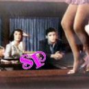 Never-before-seen picture of Elvis checking out Gloria's legs while she danced on stage and bar in Jailhouse Rock