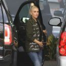 Gwen Stefani at Recording Studio in Hollywood