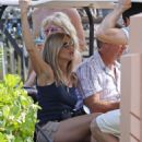 Jennifer Aniston - Riding In A Golf Cart In Hawaii - May 5, 2010