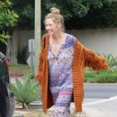 Rebecca Gayheart in Long Dress and Sweater in Los Feliz - 454 x 681
