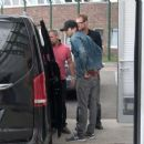 Mila Kunis and Ashton Kutcher – Seen at the GAT of the Airport Schoenefeld in Berlin - 454 x 254