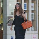 Sofia Vergara in Long Black Dress Out in Beverly Hills