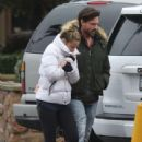 Denise Richards and Aaron Phypers – Out on a rainy day in Malibu - 454 x 681