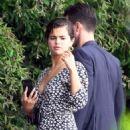 Selena Gomez in Long Dress on holiday in Capri