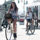 Shenae Grimes and her husband, Josh Beech, were seen enjoying a bike ride down the streets of Hollywood, California on July 28, 2013