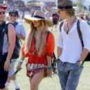 Vanessa Hudgens and Austin Butler at the Coachella Valley Music and Arts Festival in Indio, California (April 13)