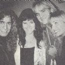 Joey Allen and Kathy Conan with friends Gerard Zappa and Ally Sheedy backstage at a Warrant show on December 30th 1990