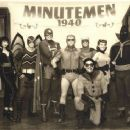 L-r: The Minutemen, the original group of costumed heroes, are pictured in 1940: APOLLONIA VANOVA as Silhouette, NIALL MATER as Mothman, DAN PAYNE as Dollar Bill, CLINT CARLETON as the original Nite Owl, DARYL SCHEELER as Captain Metropolis, CARLA GUGINO - 454 x 366