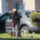 Doria Ragland – With her dogs out in Los Angeles