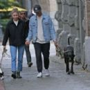 Melissa Benoist and boyfriend Chris Wood walk the dogs in Vancouver - 454 x 303