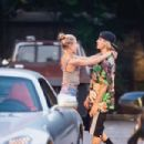 Hailey Baldwin and Justin Bieber at Bay Burger in Sag Harbor