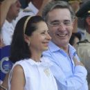 Alvaro Uribe and Lina Moreno