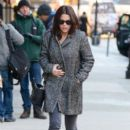 Vanessa Ferlito is spotted out for a stroll in New York City, New York on January 8, 2015