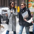 Lea Michele with her mother out in New York City - 454 x 598