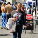 Christina Milian – Shopping at a Farmer's Market in Studio City