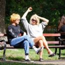 Billie Piper with her boyfriend Johnny Lloyd – Spotted at a park in a London