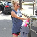 Kaley Cuoco Leaving Workout in Studio City - 454 x 766