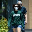 Emmy Rossum in Shorts – Stop at coffee bean in West Hollwood