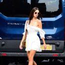 Emily Ratajkowski in White Mini Dress – Out in New York City - 454 x 618