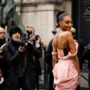 Jourdan Dunn – Arriving at the Vivienne Westwood Fashion Show in Paris - 454 x 302