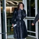 Bella Hadid in Leather Coat – Arriving at JFK airport in NYC