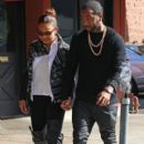 Christina Milian and fiance Jas Prince out for lunch in Los Angeles, California on January 4, 2014