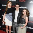 Actors Sophie Turner, Isaac Hempstead-Wright, Maisie Williams attend the Entertainment Weekly celebration honoring this year's SAG Awards nominees sponsored by TNT & TBS and essie at Chateau Marmont on January 17, 2014 in Los Angeles, California - 430 x 594