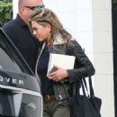 Jennifer Aniston – Exits Balayage By Nancy Braun Salon in Beverly Hills