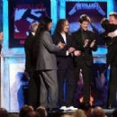 Metallica at the 24th Annual Rock and Roll Hall of Fame Induction Ceremony at Public Hall on April 4, 2009 in Cleveland, Ohio - 454 x 311