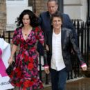 Ronnie Wood and Sally Humphreys attend the first annual gala dinner in recognition of Addiction Awareness Week at Phillips Gallery on June 12, 2019 in London, England - 413 x 600