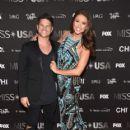 Nia Sanchez and Daniel Booko- 2016 Miss USA Competition- Arrivals - 418 x 600