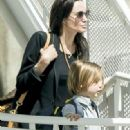 Brad Pitt,  Angelina Jolie and Their Kids in France (June 7, 2015)