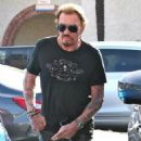 Johnny Hallyday is seen visiting the Brentwood Country Mart with his wife Laeticia on February 2, 2015 in Brentwood, California - 454 x 588