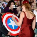 Scarlett Johansson Captain America The Winter Soldier Premiere In London