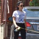 Lucy Hale with her dog Elvis – Out in Los Angeles