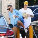 Hailey Baldwin and Justin Bieber – Out for coffee in Beverly Hills