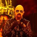 Rob Halford of Judas Priest perform at the Nokia Theatre L.A. Live at Nokia Theatre L.A. Live on November 10, 2014 in Los Angeles, California