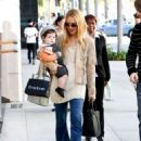 Rachel Zoe shopping with their son Skyler in Beverly Hills