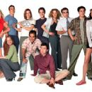 Tara Reid, Mena Suvari, Chris Klein, Alyson Hannigan, Seann William Scott, Thomas Ian Nicholas, Eddie Kaye Thomas, Natasha Lyonne, Eugene Levy, Jason Biggs and Shannon Elizabeth of Universal's American Pie 2 - 2001 - 400 x 312